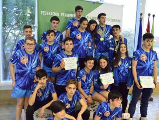 Los juveniles del Club Salvamento Don Benito Campeones de Extremadura por Equipos