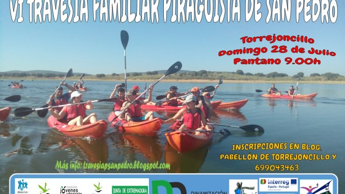 La VI Travesía Familiar Piragüista de San Pedro el domingo 28 de Julio