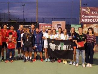 El Club de Tenis Sportem en femenino, y el Club de Tenis Cabezarrubia en masculino, Campeones de Extremadura por Equipos Absoluto