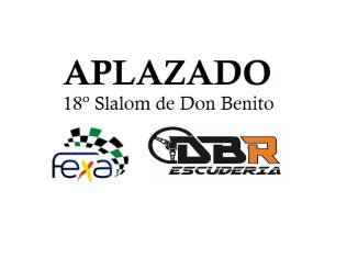 La Escudería DBR comunica el aplazamiento del Slalom de Don Benito