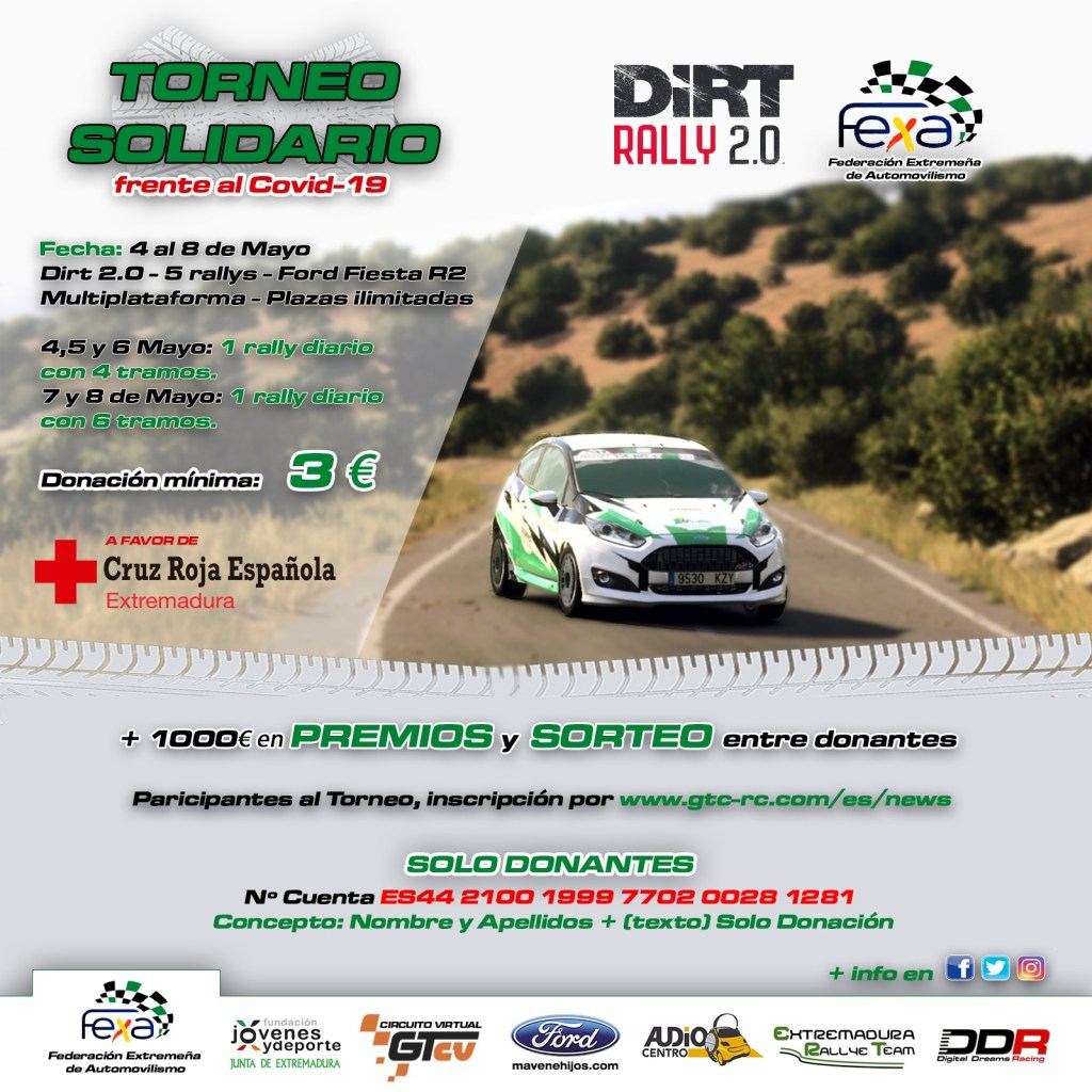 Torneo virtual de rally a beneficio de Cruz Roja frente al COVID-19