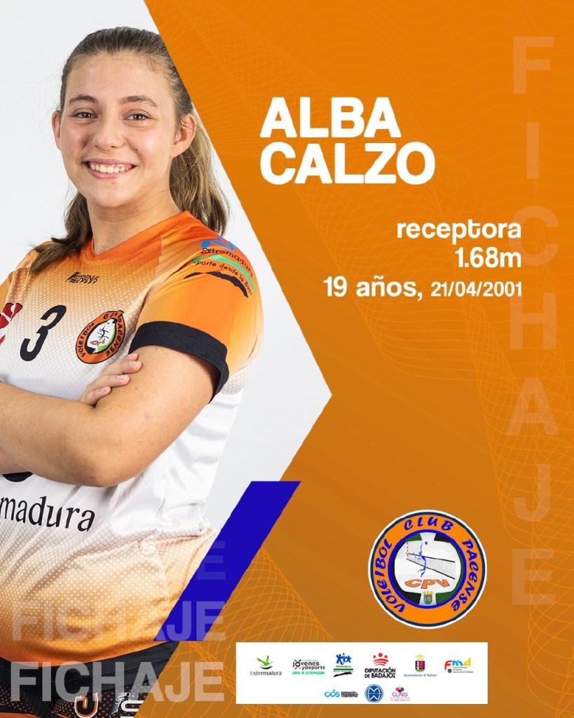 Alba Calzo sube a la primera plantilla del Extremadura CPV