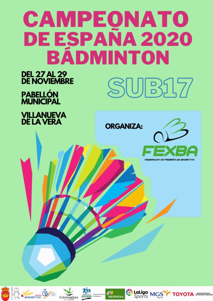 Villanueva de la Vera acoge el Campeonato de España de Badminton Sub-17