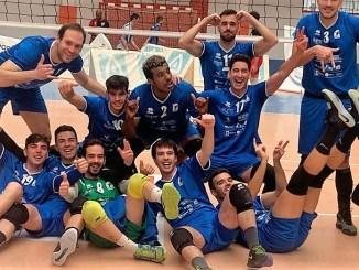 Celebración de la victoria frente a Vigo