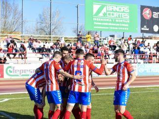 Celebración de los goles del CD Don Benito