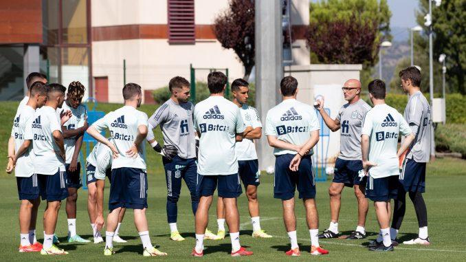 entrenamiento de la selección Sub-21