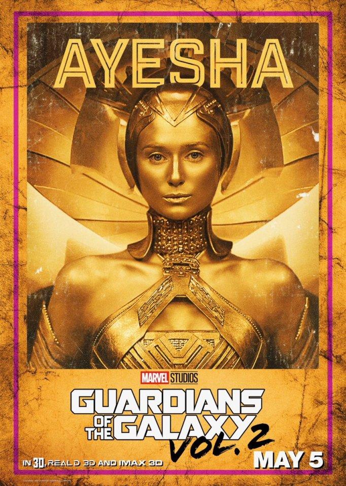 Divulgado novos pôsteres de Guardiões da Galáxia Vol. 2