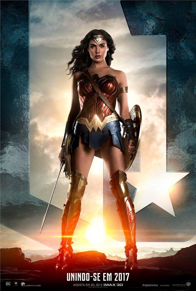 Divulgado um novo pôster da Mulher-Maravilha em Liga da Justiça!