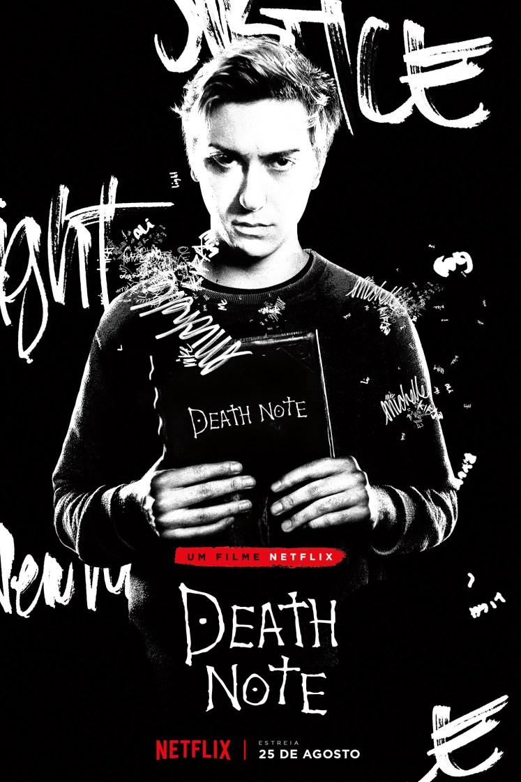 Divulgado um novo pôster do filme do Death Note, com o foco no Light!