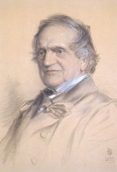 Fig. 4. Portrait of the Rev Adam Sedgwick (1785-1873) in 1867, at the age of 82, by Lowes (Cato) Dickenson. Copyright Sedgwick Museum, Cambridge.