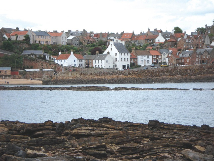 The pretty fishing village of Crail, Fife as seen from the Arthropleura track find site.
