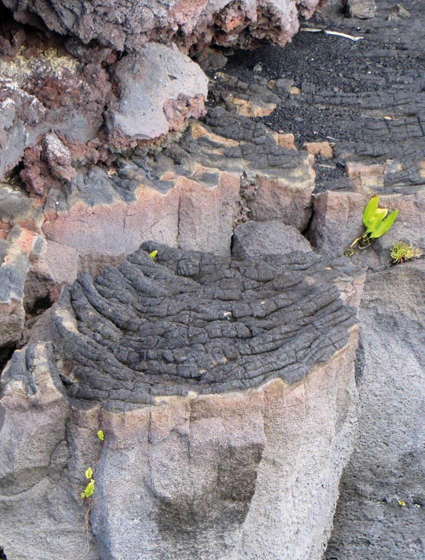 3. layers of lava