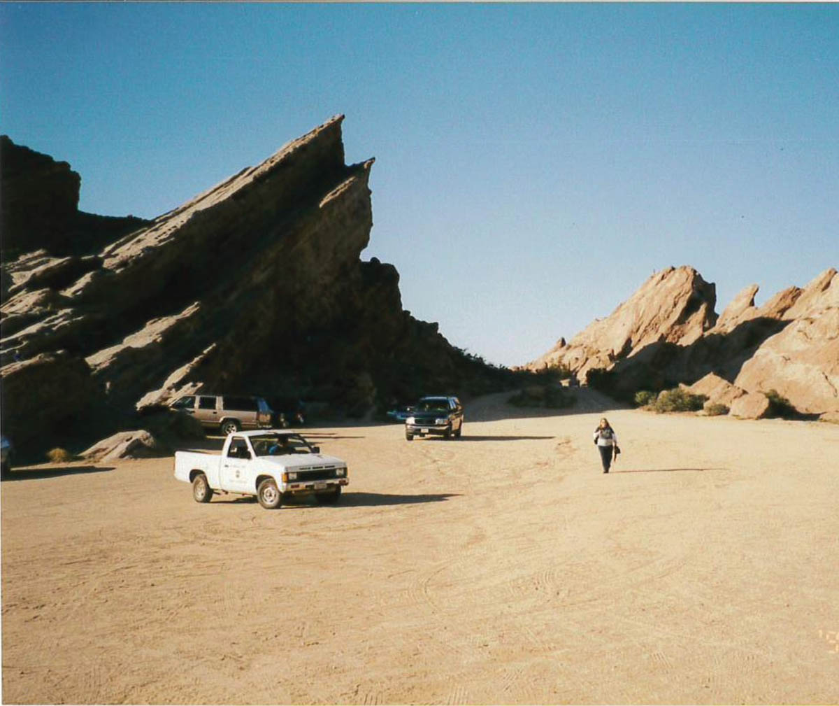 The very down-to-earth Vasquez rocks portray the surface of alien planets for the media
