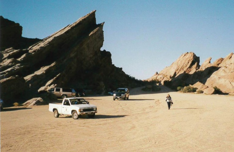 Very down-to-earth Vasquez rocks portray the surface of alien planets for the media