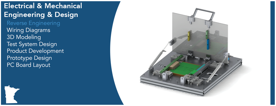 Electrical & Mechanical Engineering & Design Capabilities Graphic - Reverse Engineering