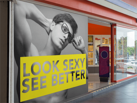 storefront window banner design