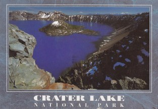 Celeste went to Crater Lake, Oregon.