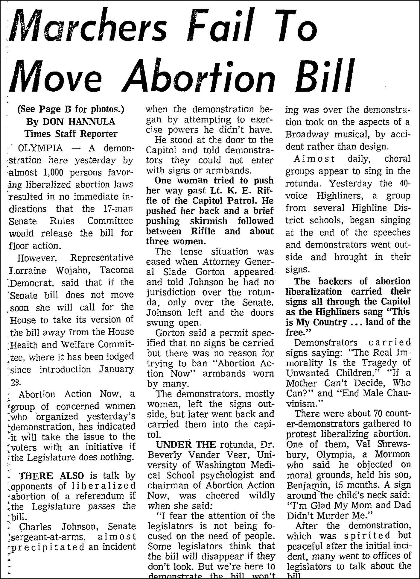 1970 Abortion Reform Victory