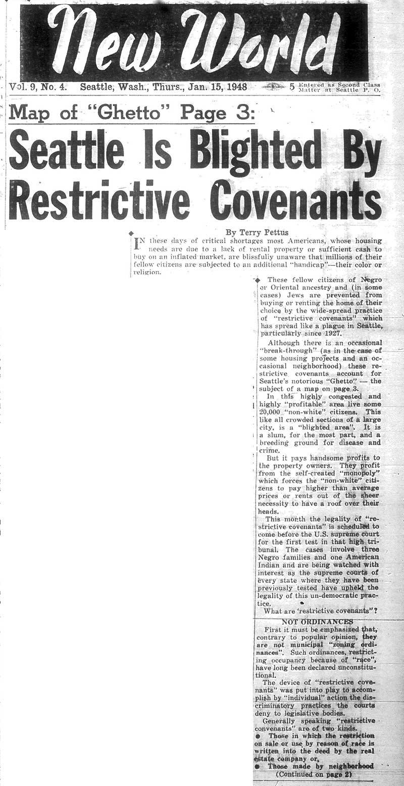 Racial Restrictive Covenants: Enforcing Neighborhood