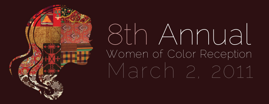 women of color reception poster