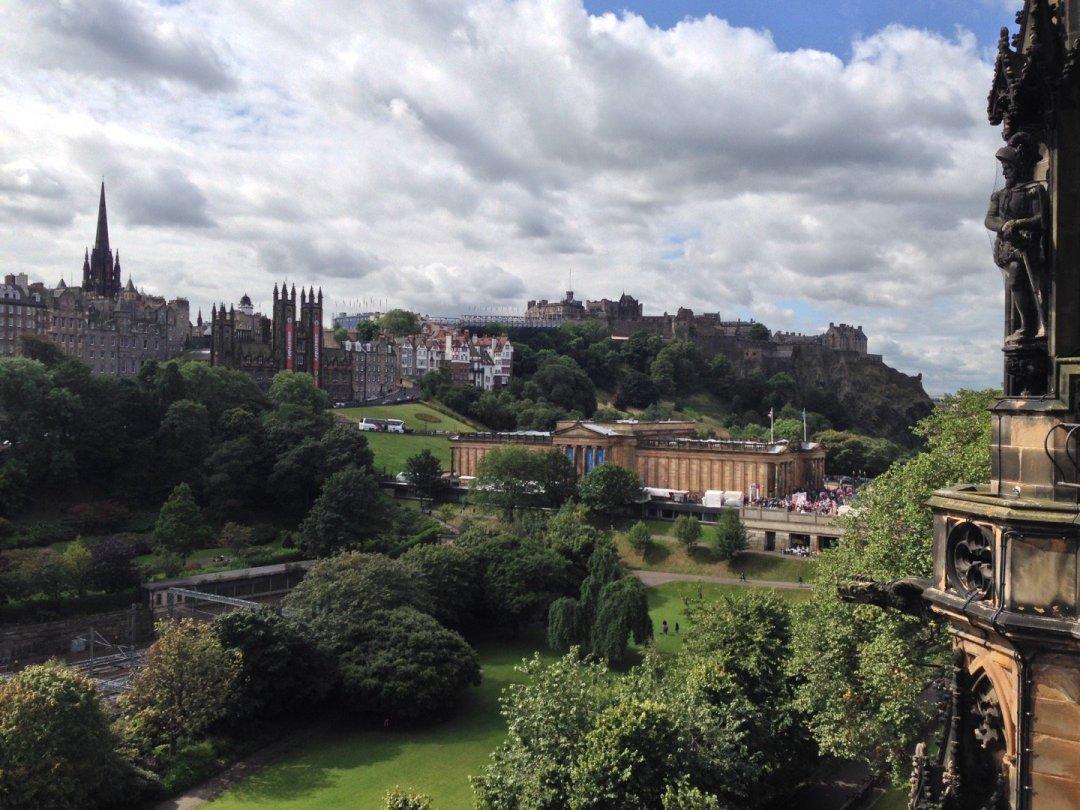 Vista desde el monumento a Sir Walter Scott.