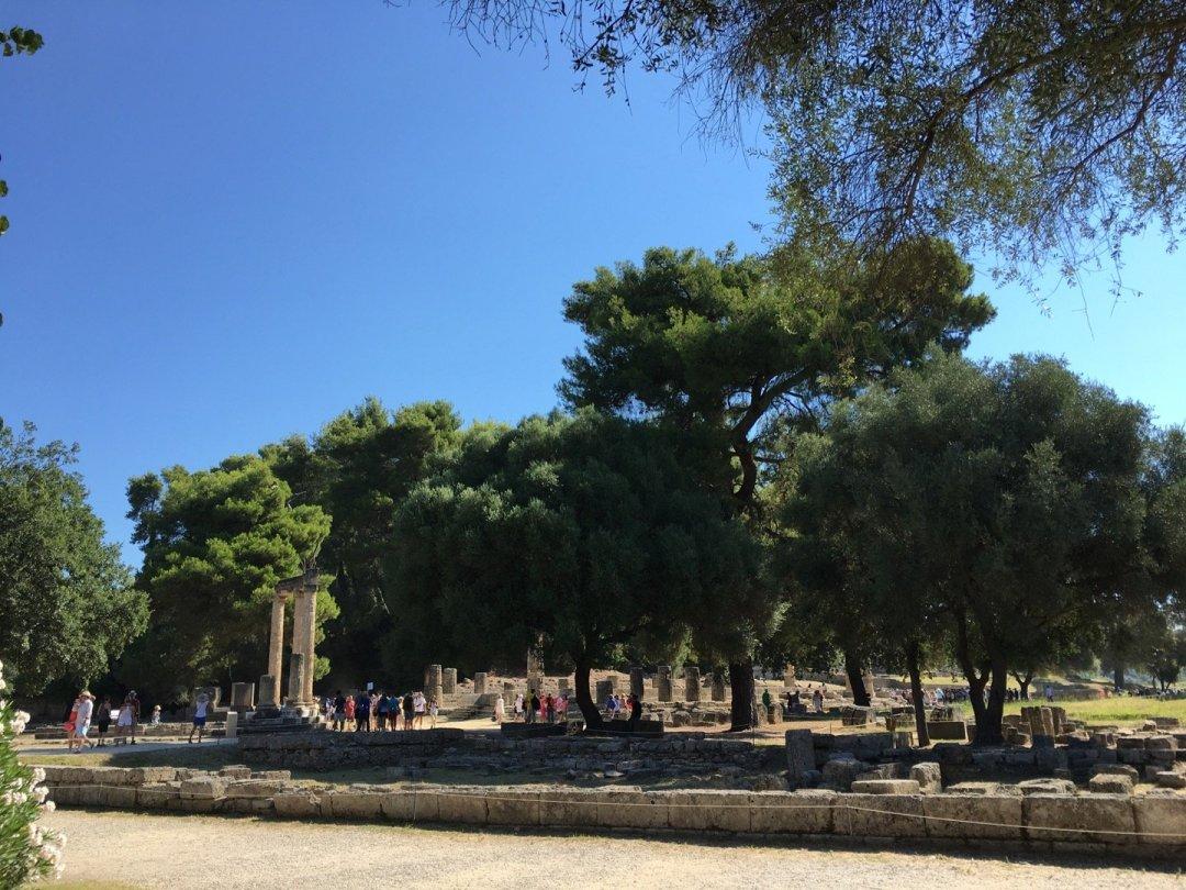 Filipeo y Templo de Hera, en Olimpia