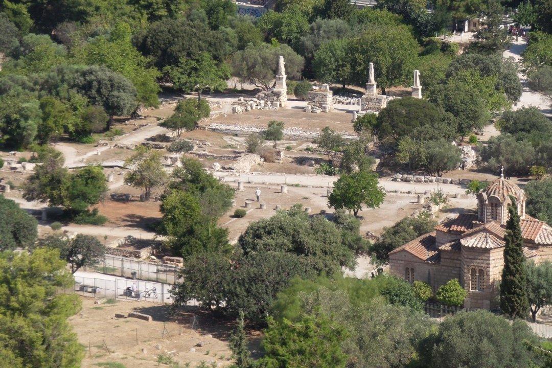 El Ágora, visto desde la Acrópolis