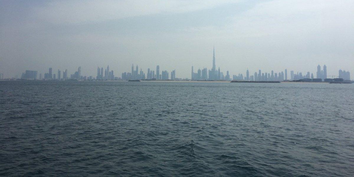 Un paseo en barco hasta Dubai Marina