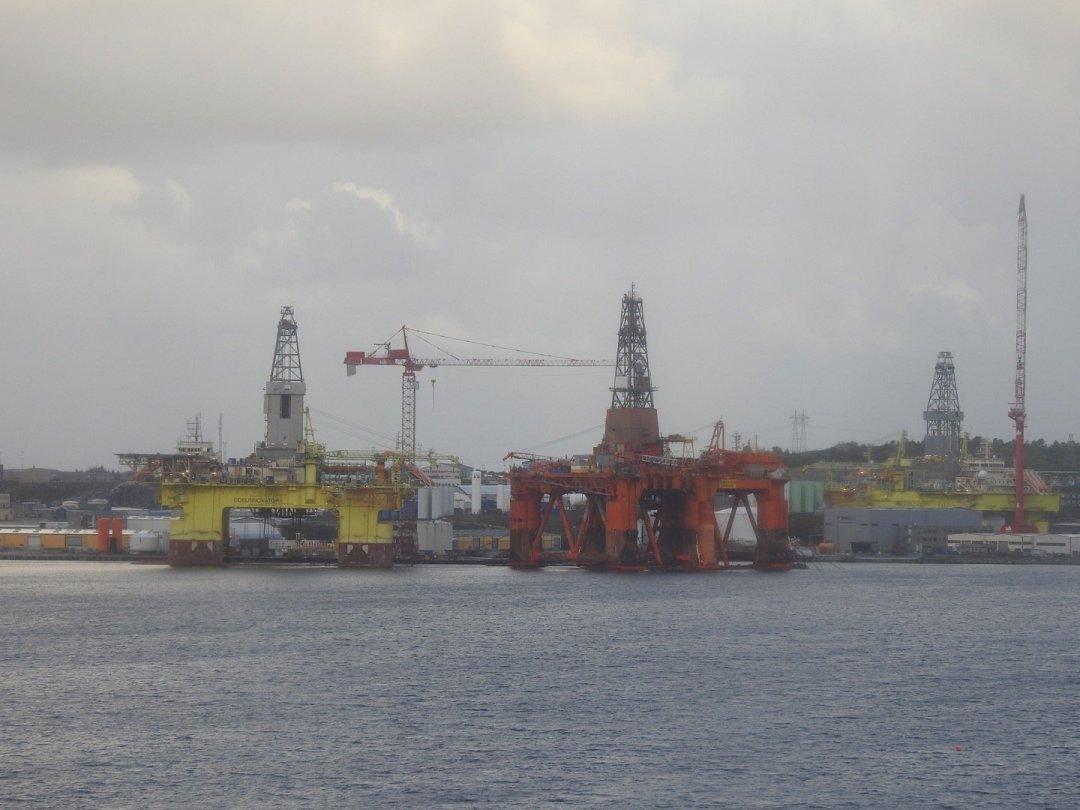 Plataformas petrolíferas en Ågotnes