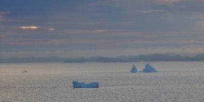 Icebergs en la neblina