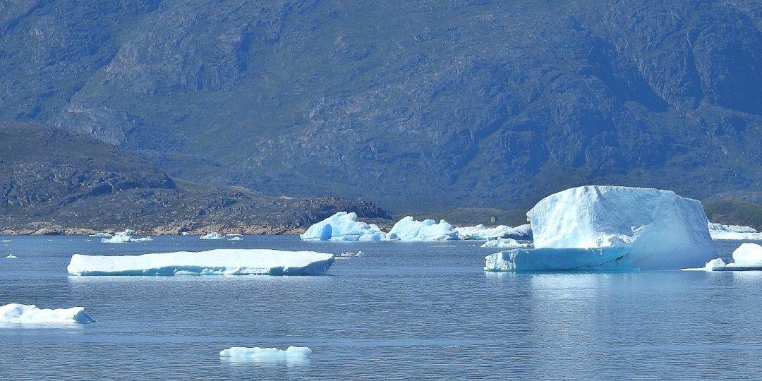 Icebergs cerca de Narsaq