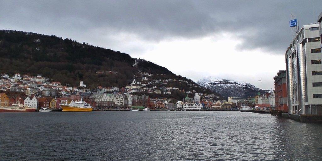 Vista de Vågen desde Nordnes