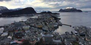 Ålesund desde el mirador de Aksla