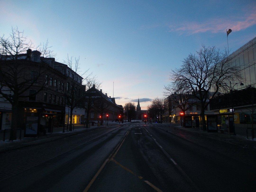 Munkegata al amanecer