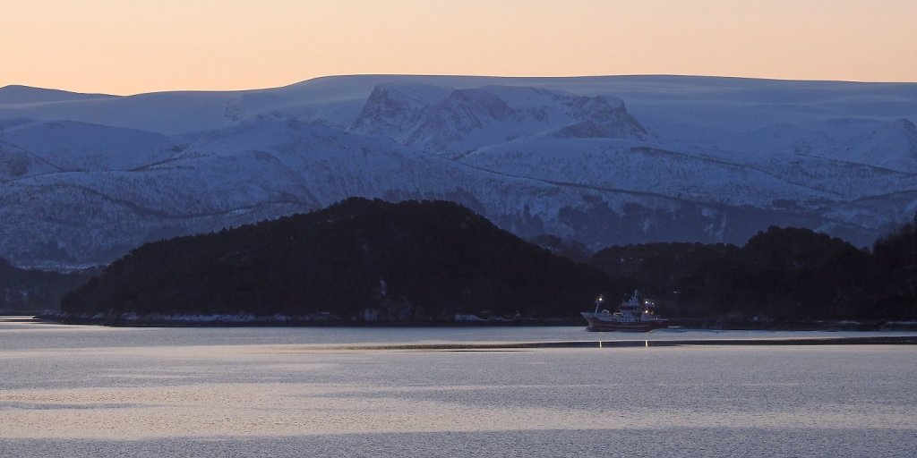 El Vestre Svartisen desde el mar