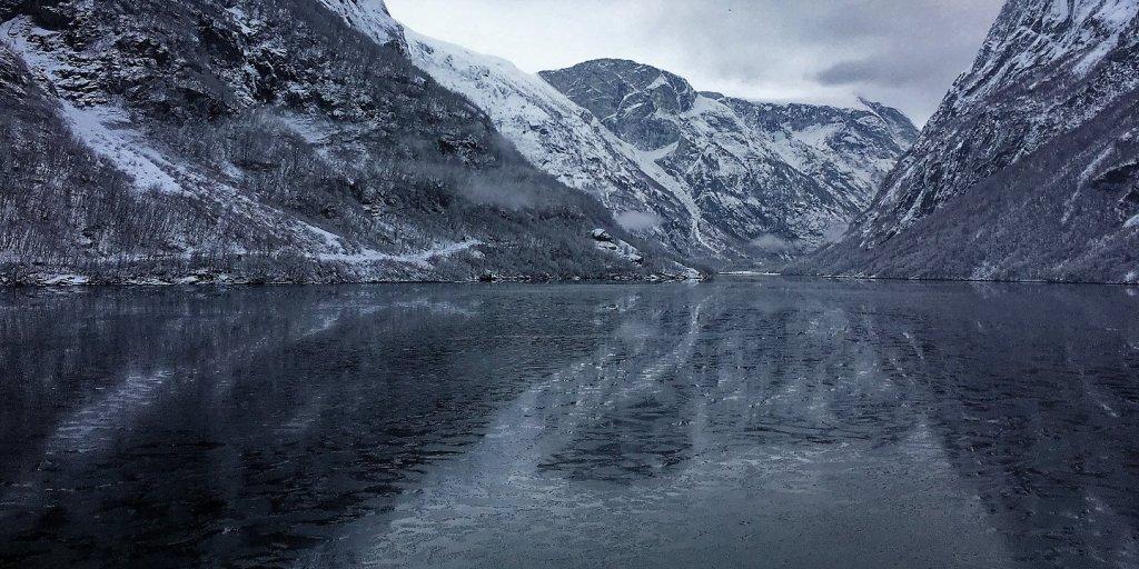 El Nærøyfjord cerca de Gudvangen