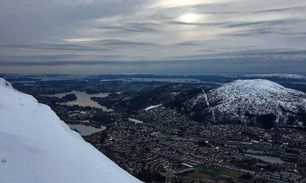 Subiendo al monte Ulriken