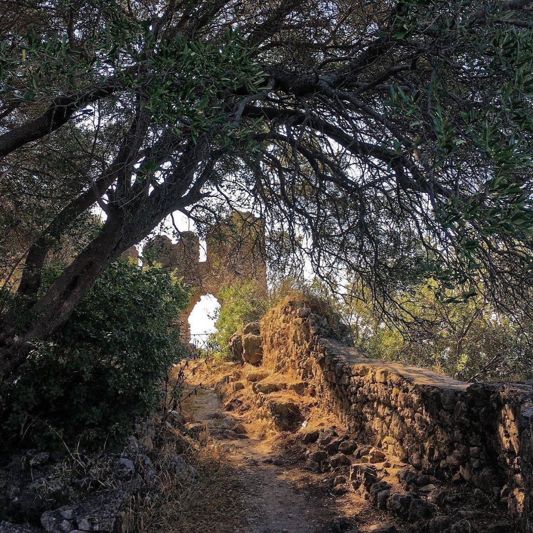 Interior del castillo de Parga
