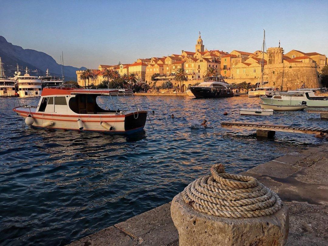 Atardecer en Korčula