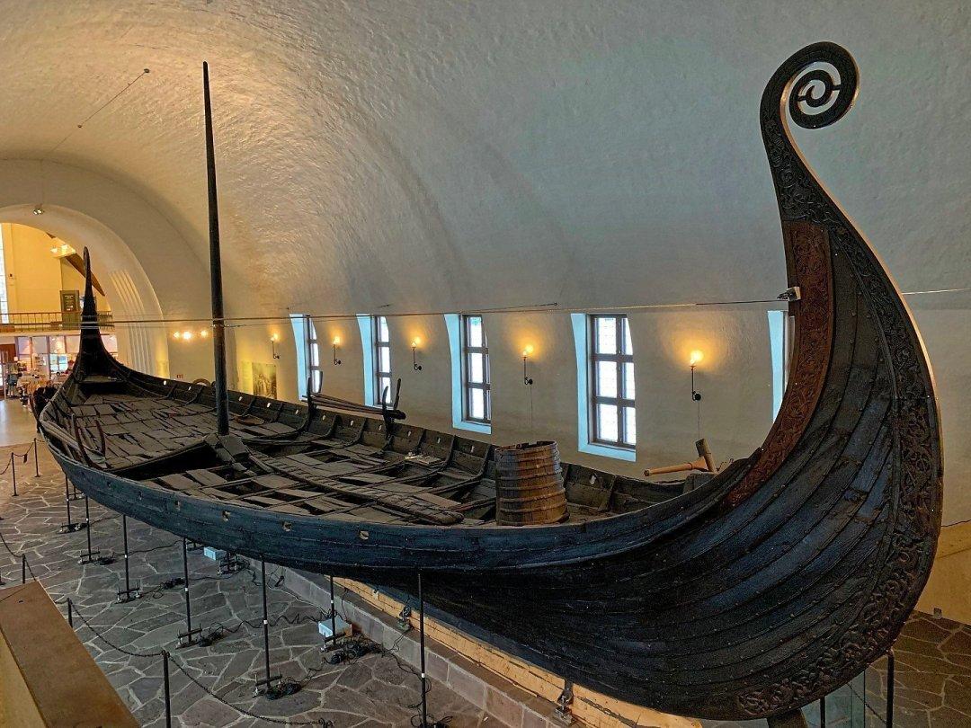 Cubierta del barco de Oseberg