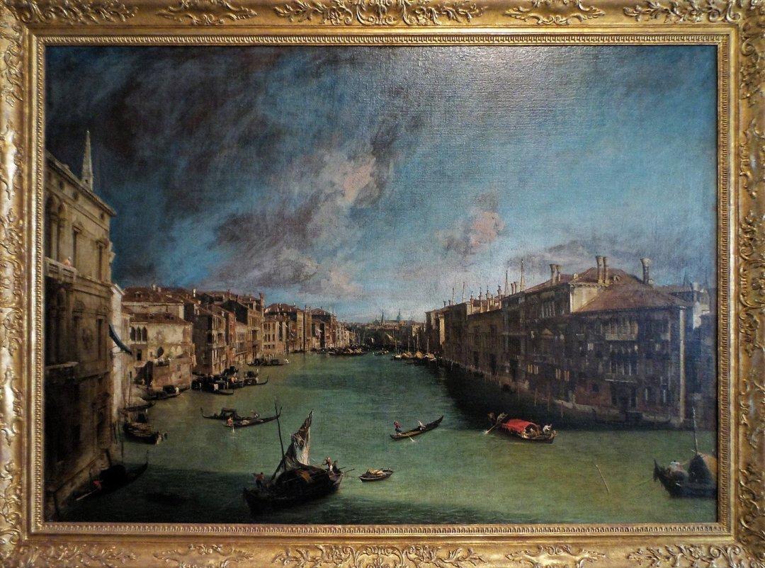 El Gran Canal desde Ca' Balbi, por Canaletto