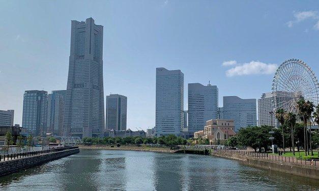 Embarcando en Yokohama
