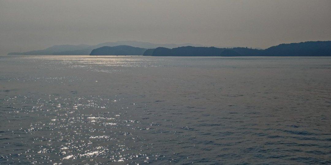 Entrando en la bahía de Osaka