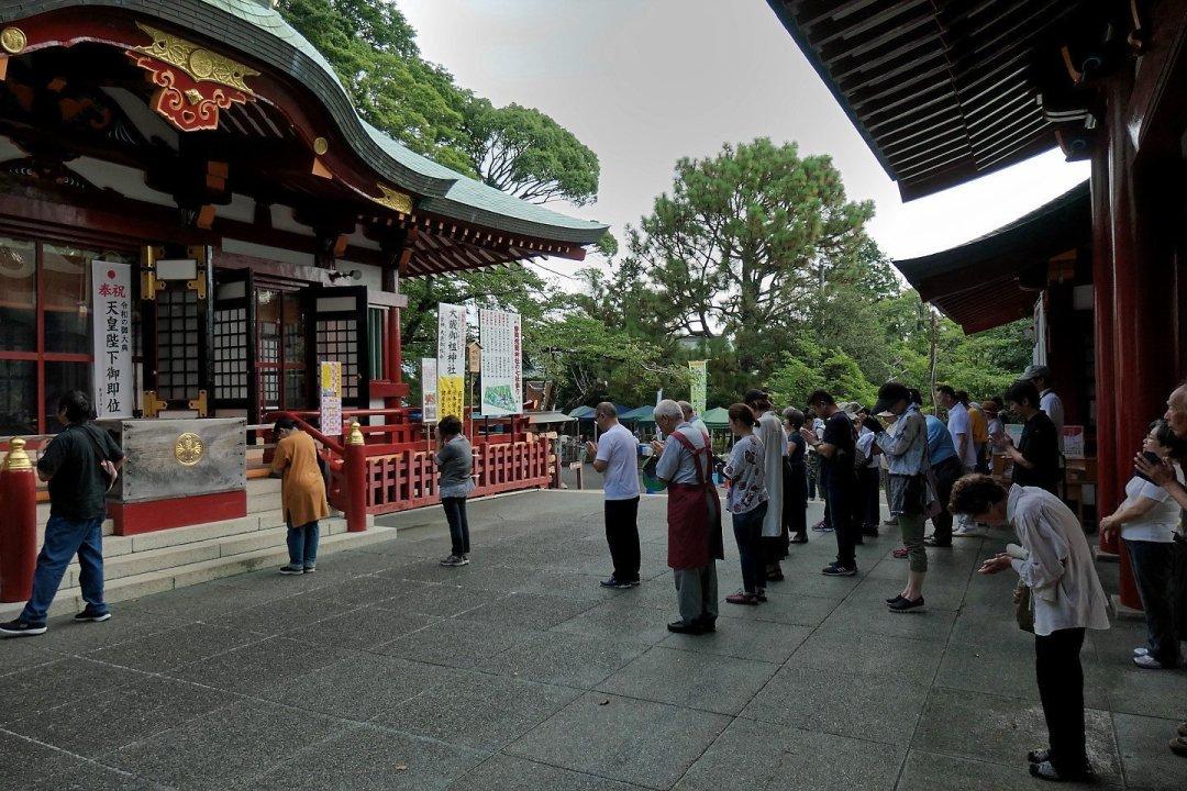 Orando en Ōtoshimioya