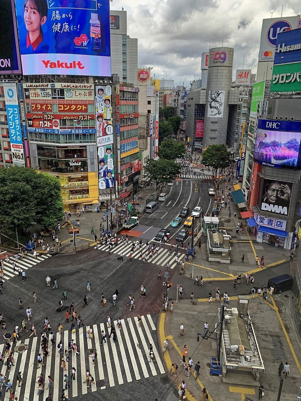 Cruce de Shibuya desde Magnet