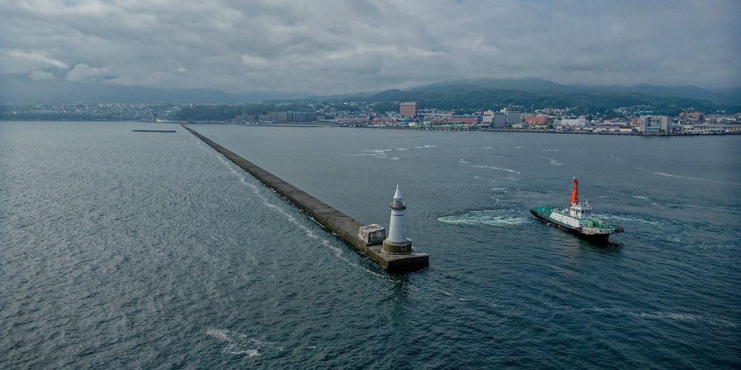 Entrando al puerto de Otaru