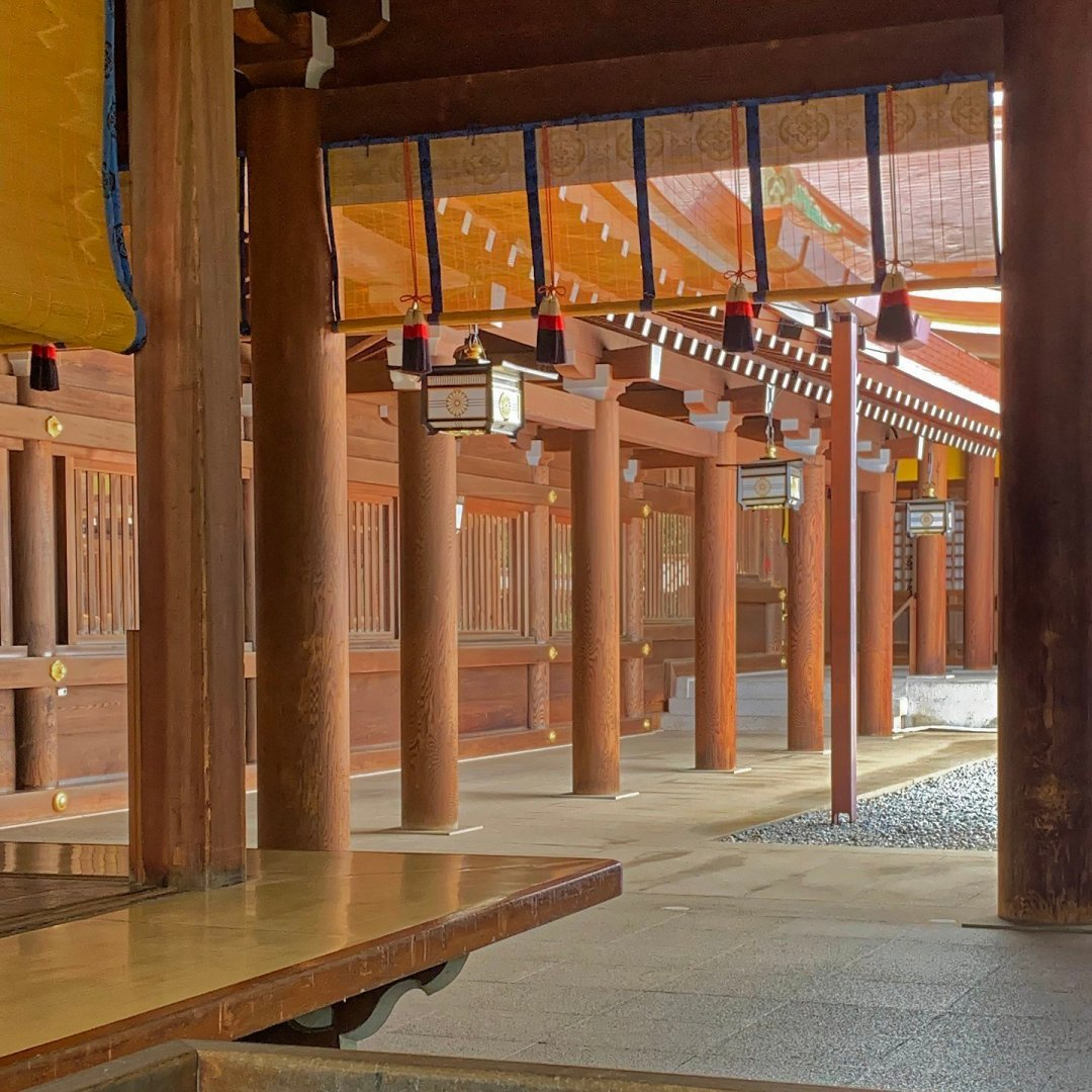Patio interior de Meiji Jingū