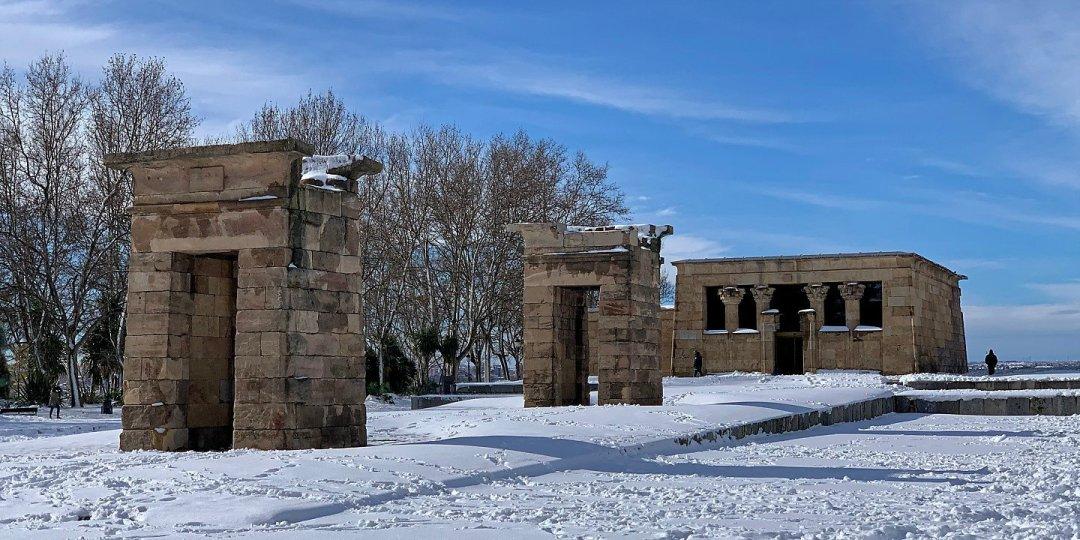 Templo de Devod nevado