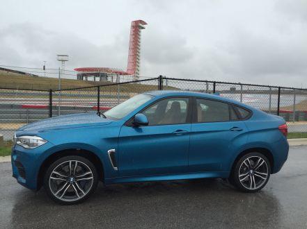 BMW X6 M 2015 Seite Rennstrecke