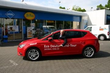 Mit 100 Euro in der Tasche quer durch Deutschland - Seat Leon TGI